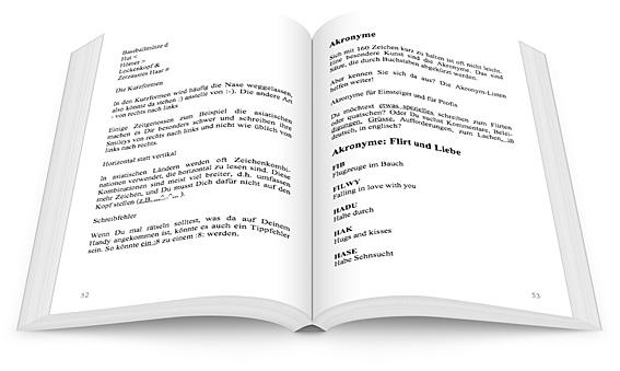 SMS Kürzel - aufgeschlagenes Buch