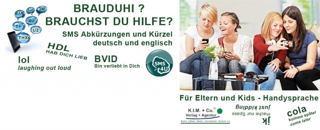 Brauduhi - sms Kürzel - Buch Slider